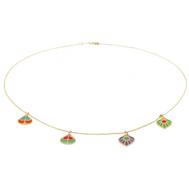 Lito, Peacock Bracelet with enamel