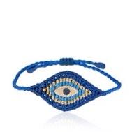 Zoe Kompitsi, Braided Bracelet with Center Eye in Gold, Diamonds and Sapphire, 680€