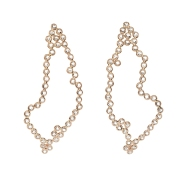 Lito, Hive Stalactites Earrings with Diamonds