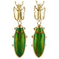 Lito Scarab Beetles Earrings