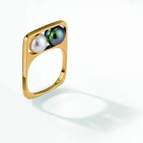Bague Deux Perles (Two Pearls Ring) - 1967 - Created for Pierre Cardin