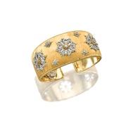 Gold and Diamond Cuff Bangle, Mario Buccellati (Estimate 200,000 — 250,000 HKD)