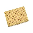 18 Karat Gold and Ruby Compact Case, Van Cleef & Arpels (Estimate 40,000 — 60,000 HKD)