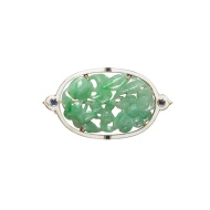 Jadeite, Enamel and Sapphire Brooch, Cartier, New York (Estimate 40,000 — 80,000 HKD)