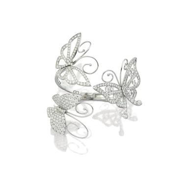 Diamond Bangle, 'Flying Butterfly', Van Cleef & Arpels (Estimate 470,000 — 620,000 HKD)